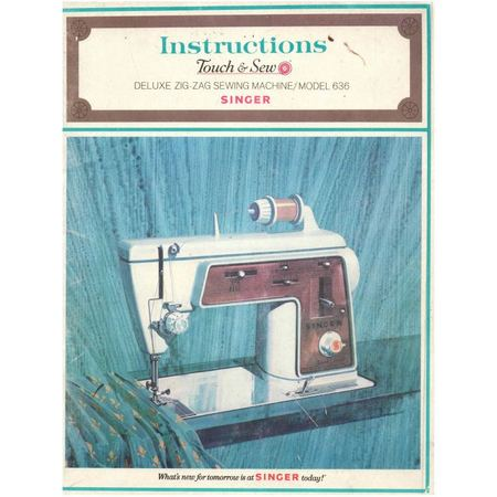 Instruction Manual, Singer 636 Touch & Sew
