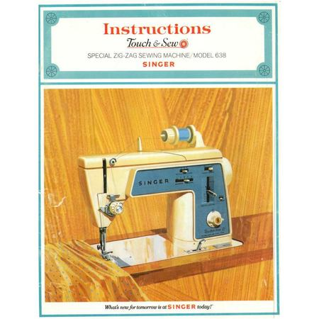 Instruction Manual, Singer 638 Touch & Sew