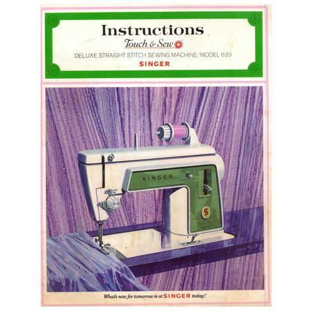Instruction Manual, Singer 639