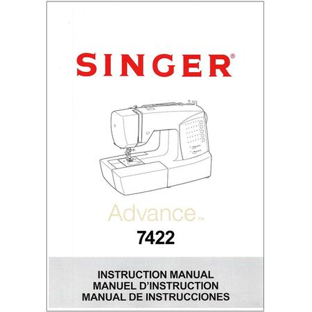 Instruction Manual, Singer 7422