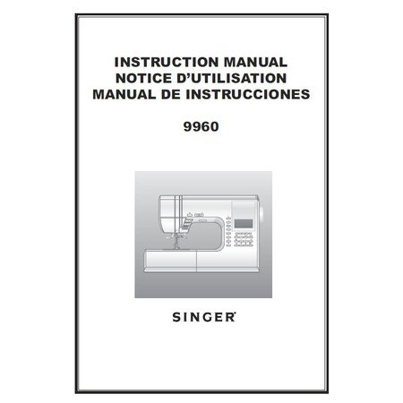 Instruction Manual, Singer 9960 Quantum Stylist