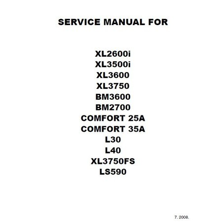 Service Manual, Brother LS590