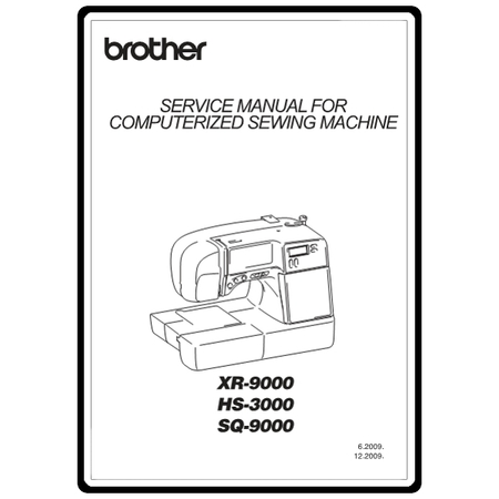 Service Manual, Brother SQ9000