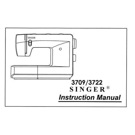 Instruction Manual, Singer 3709 ORIGINAL