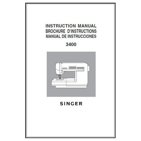 Instruction Manual, Singer XL-3400