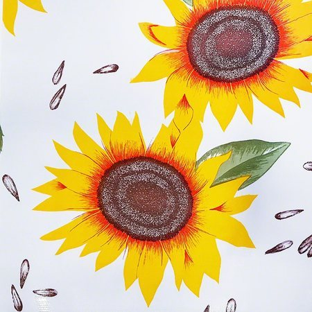 47in Sunflower Oilcloth Fabric