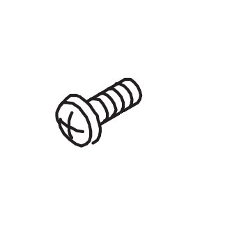 Auxiliary Bed Plate Screw, Singer #283522