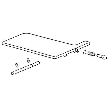 Convertible Bed Plate Complete, Singer #376781