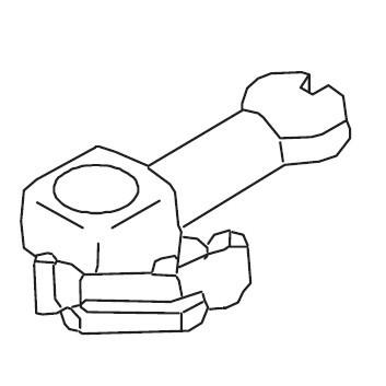 Needle Clamp w/ Screw, Juki #A14038800A0A