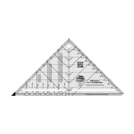 Half-Square 4-in-1 Triangle Ruler, Creative Grids