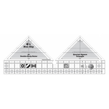 90 Degree Double-Strip Ruler, Creative Grids