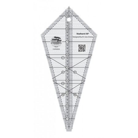 Starburst 30 Degree Triangle Ruler, Creative Grids