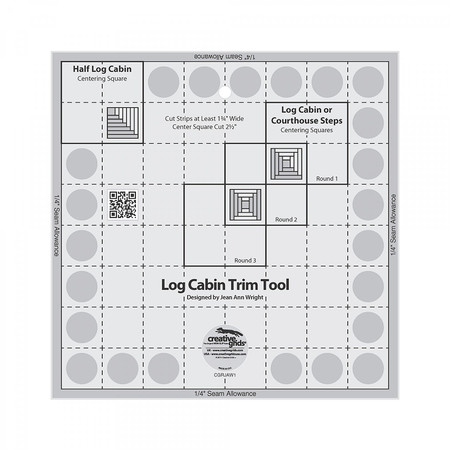 "Log Cabin Trim Tool for 8""x8"" Finished Blocks, Creative Grid"