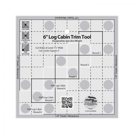 6in Log Cabin Trim Tool, Creative Grids