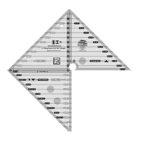 6in Flying Geese & 45 90 Degree Triangle Ruler, Creative Grids