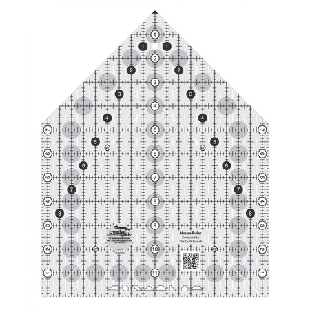 House Ruler 9-1/2in x 12in, Creative Grids