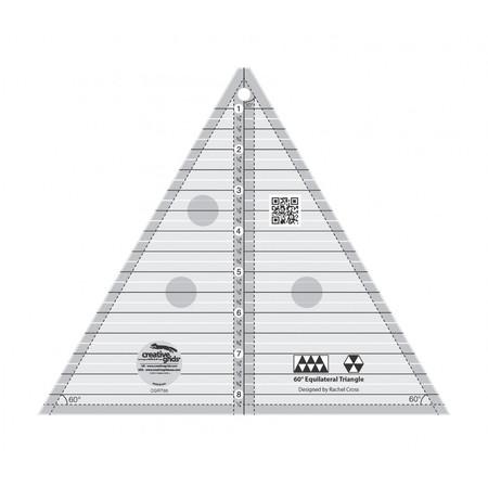 60 Degree Triangle 8-1/2in, Creative Grids