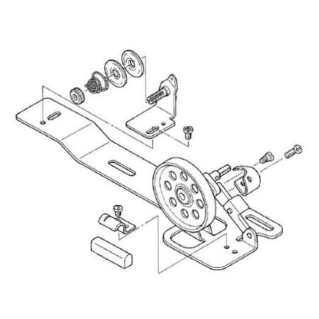 Bobbin Winder Assembly, Juki #D3201-555-DAO