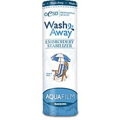 "AquaFilm, Wash-Away Backing 8""x 10 yds"