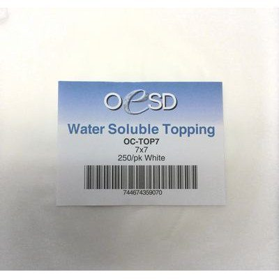 "Water Soluble Topping Sheets (250pk) 7""x 7"" White"