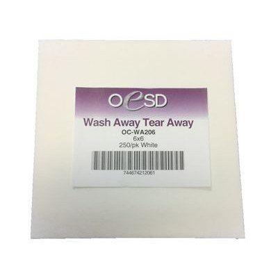 "Wash-Away / Tear-Away Sheets, 6""x 6"""