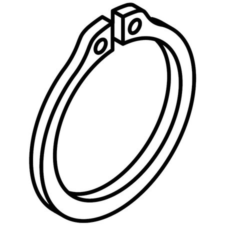 Retaining Ring, Pfaff #12-610240-45
