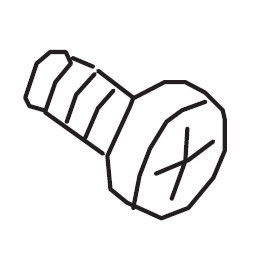 Lower Looper Screw, Juki #SM5030655SN