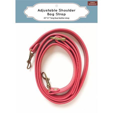 """Adjustable Shoulder Strap, Red (43""""-51""""), Zakka Workshop"""