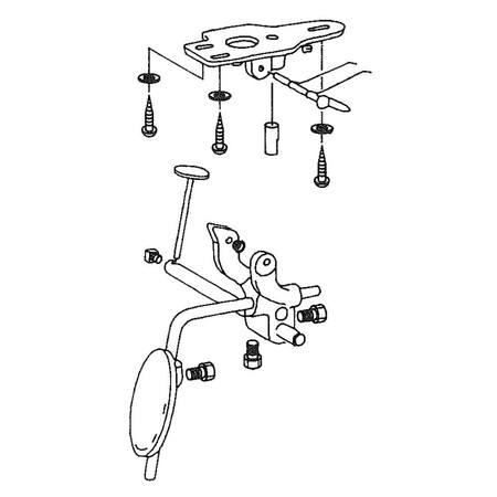 Knee Lifter Assembly, Juki #B34010270B0