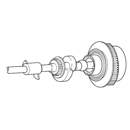 Upper Shaft Assembly, Brother #XC1231251