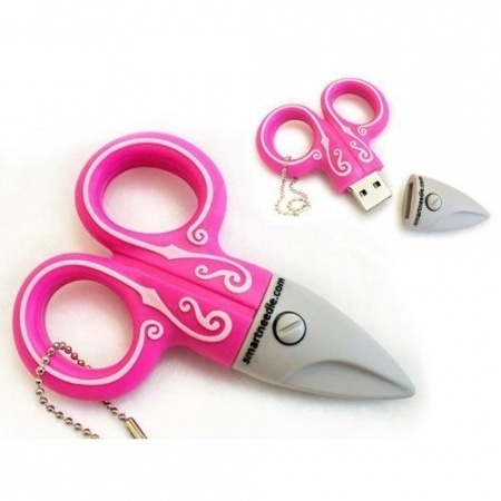 4GB USB Flash Drive, Pink Scissors, Smartneedle