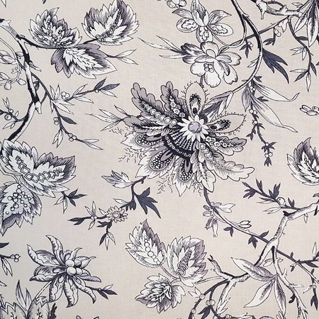 Waverly, Floral, Beige Upholstery Fabric - 55""