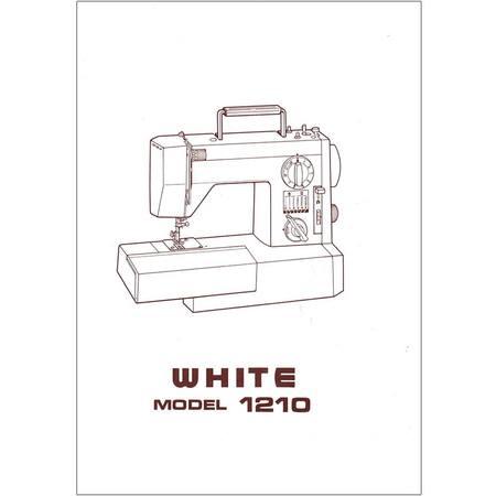 Instruction Manual, White 1210