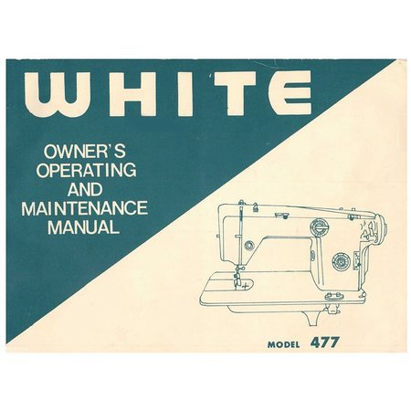 Instruction Manual, White 477