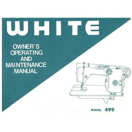 Instruction Manual, White 499