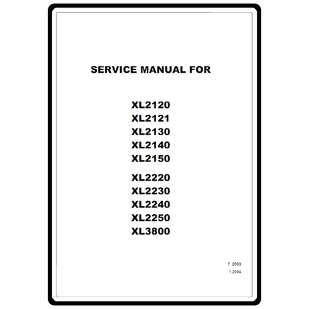 Service Manual, Brother XL3800