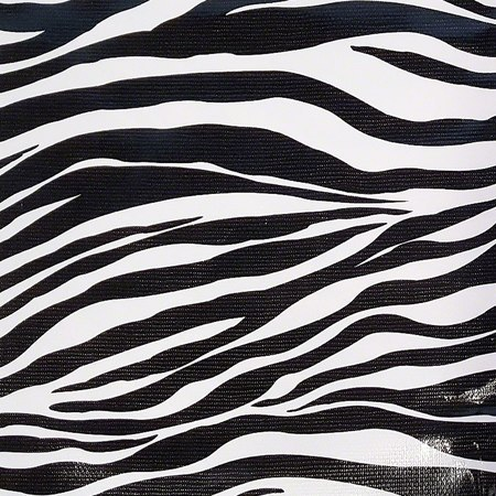 47in Zebra Oilcloth Fabric