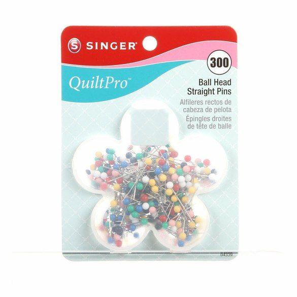 Singer QuiltPro Ball Head Straight Pins - 300pk
