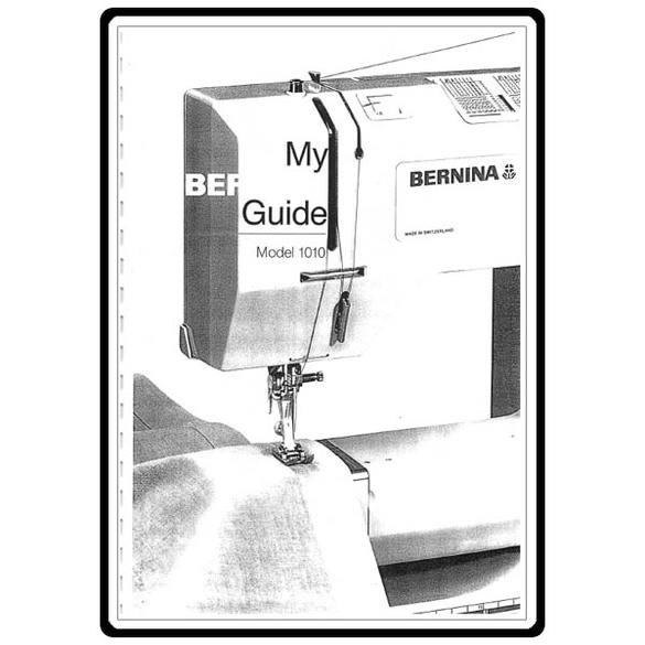 Instruction Manual, Bernina 1011