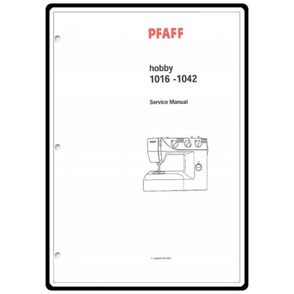 Service Manual, Pfaff 1016