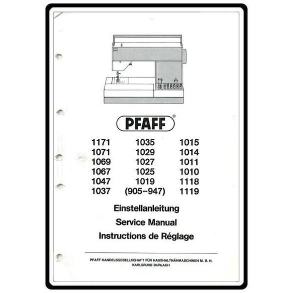 Service Manual, Pfaff 1019