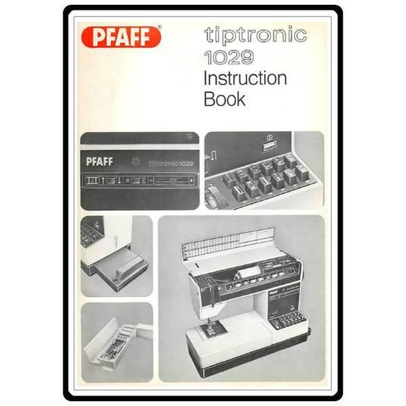 Service Manual, Pfaff 1029