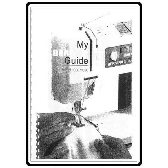 Instruction Manual, Bernina 1030