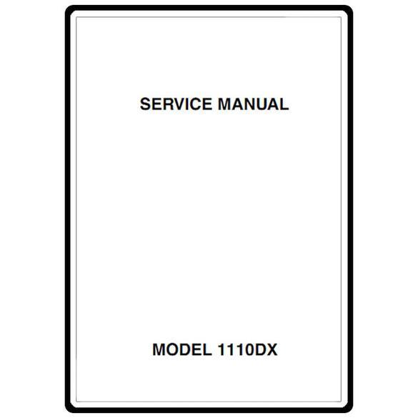 Service Manual, Janome 1110DX