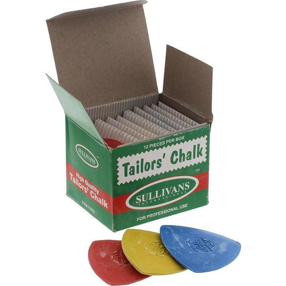 Tailors Chalk 12pc Set, Assorted Colors - Sullivans
