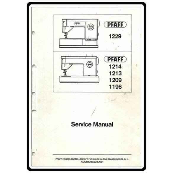 Service Manual, Pfaff 1212