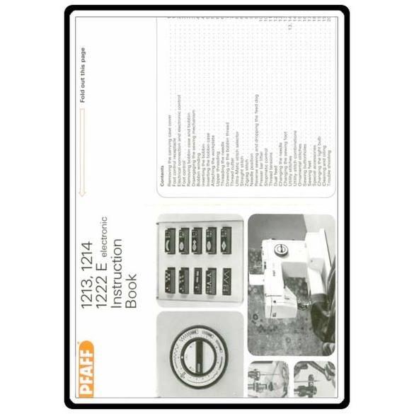 Service Manual, Pfaff 1214