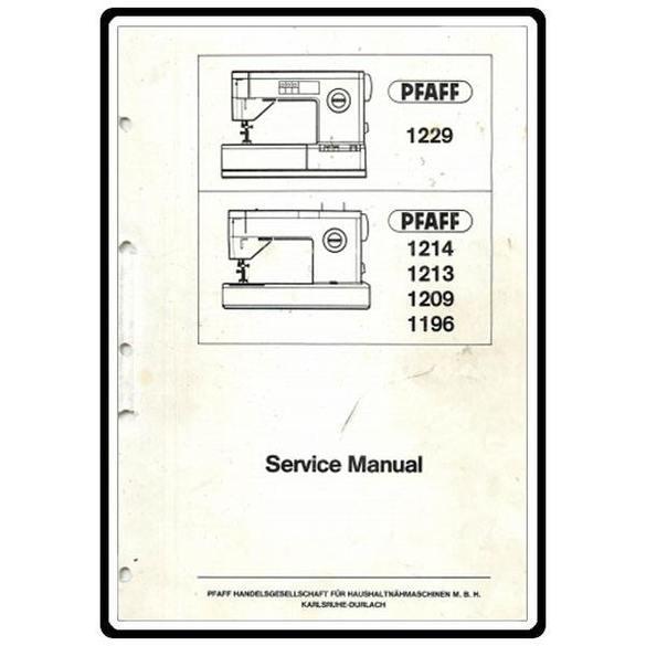 Service Manual, Pfaff 1222