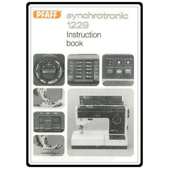 Service Manual, Pfaff 1229