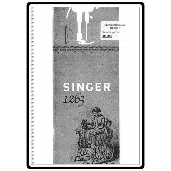 Instruction Manual, Singer 1263